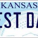 Best Dad Kansas Novelty Metal License Plate