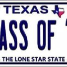 Class of '18 Texas Background Novelty Metal License Plate