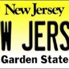 New Jersey Background Novelty Metal License Plate
