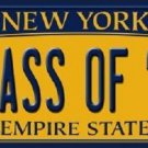 Class of '16 New York Background Novelty Metal License Plate