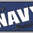 Navy Machinist Mate Metal License Plate