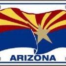 Arizona Waving Flag Novelty Metal License Plate