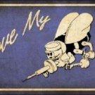 I Love My Seabee Novelty Metal License Plate
