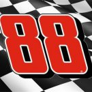 Dale Jr. #88 On Waving Flag Photo License Plate