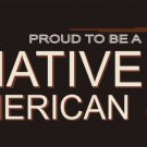 Proud To Be A Native American Vanity Metal Novelty License Plate