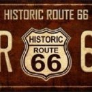 Historic Route 66 Vintage Novelty Metal License Plate