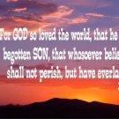 John 3:16 Desert Sunset Photo License Plate