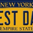Best Dad New York Background Novelty Metal License Plate