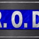 R O D Novelty Metal License Plate