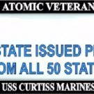 USS Curtiss Marines Atomic Veteran Every State Metal License Plate Frame