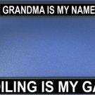 Grandma Is My Name Photo License Plate Frame