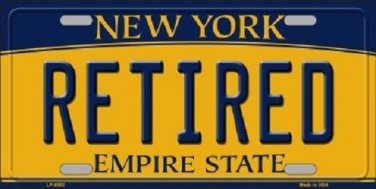 Retired New York Background Novelty Metal License Plate
