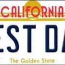Best Dad California Novelty Metal License Plate