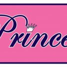 Pink Princess Tiera Novelty Vanity Metal License Plate