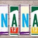 Nana Wood License Plate Art Novelty Metal License Plate