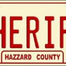 Sheriff Metal Novelty License Plate