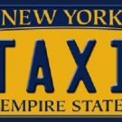 Taxi New York Background Novelty Metal License Plate