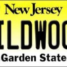 Wildwood New Jersey Background Novelty Metal License Plate