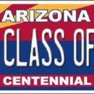 Arizona Centennial Class of '17 Novelty Metal License Plate