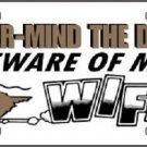 Never Mind Dog Beware of My Wife Vanity Metal Novelty License Plate