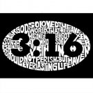 John 3:16 on Black Photo License Plate