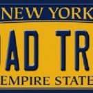 Road Trip New York Background Novelty Metal License Plate