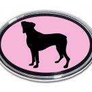 Boxer Oval Chrome Auto Emblem (PINK)