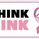 Think Pink Breast Cancer Pink Ribbon Vanity Metal Vanity License Plate
