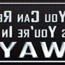 You Are In My Way Metal Novelty License Plate