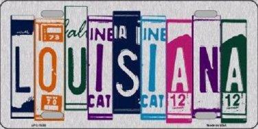 Louisiana License Plate Art Brushed Aluminum Metal Novelty License Plate
