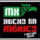 Made In Mexico Metal Novelty License Plate