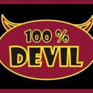 100% Devil Vanity Metal Novelty License Plate