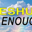 Yeshua Is Enough On Clouds With Rainbow Plate