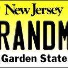 Grandma New Jersey Background Novelty Metal License Plate