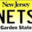 Nets New Jersey Novelty State Background Metal License Plate