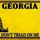 Georgia Don't Tread On Me Novelty Metal License Plate