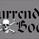 Surrender the Booty Pirate Novelty Vanity Metal License Plate