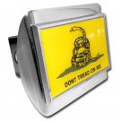 Don't Tread On Me Shiny Chrome Hitch Cover