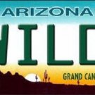Wild 1 Arizona Novelty Metal License Plate