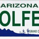 Arizona Golfer White Photo License Plate