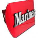 "Marine ""MARINES"" Red Hitch Cover"