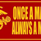 Once A Marine Always A Marine Photo License Plate