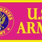 United States Army (Pink) Novelty Vanity Metal License Plate