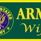 US United States Army Wife Vanity Metal Novelty License Plate