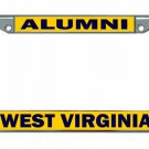 West Virginia University Alumni On Yellow Chrome License Plate Frame