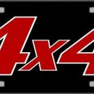 4 X 4 Black Background Vanity Metal Novelty License Plate