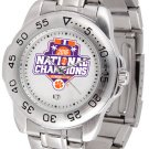 Clemson Tigers 2016 National Champions Mens' Sport Steel Watch