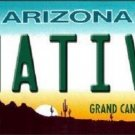 Native Arizona Novelty Metal License Plate