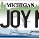 N Joy Mi Michigan Metal Novelty License Plate