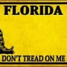 Florida Don't Tread On Me Novelty Metal License Plate
